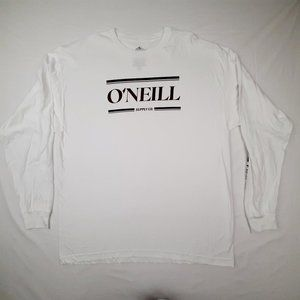 O'neill Men's Long Sleeve T-shirt Size XL White Co